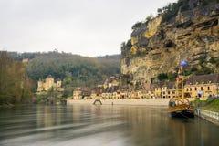 平安的村庄la roque gageac,法国 图库摄影