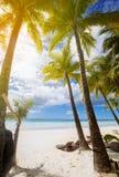 平安的海滩胜地 库存图片
