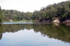 平安的湖 免版税库存图片
