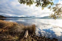 平安的澳大利亚黄昏场面 图库摄影
