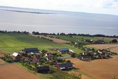 平安的瑞典村庄 免版税库存照片