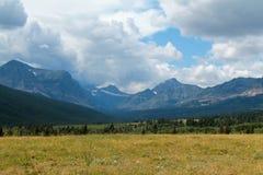 平安的草甸和优美的倾斜 库存图片