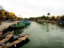 平安的运河 库存照片