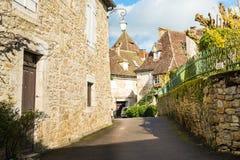 平安的carennac村庄,法国 免版税库存照片