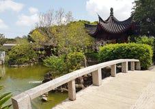 平安的Fukushuen庭院,冲绳岛 免版税图库摄影
