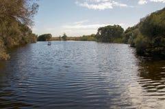 平安的Herdsman湖 图库摄影