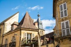 平安的sarlat la caneda村庄,法国 免版税图库摄影