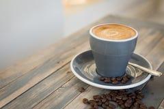 平展咖啡白色 免版税库存图片
