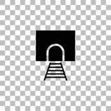 平展铁路隧道象 库存例证