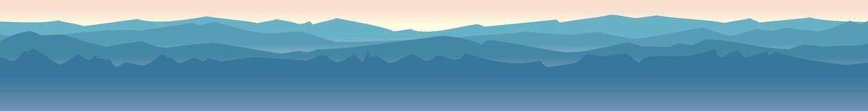 水平山的风景 免版税库存图片