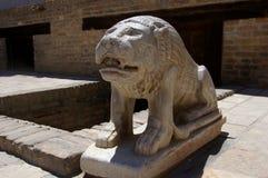 平底船城堡的狮子,布哈拉 免版税库存照片