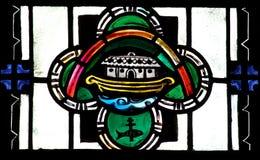 平底船彩色玻璃的诺亚 库存图片