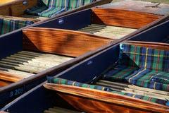 平底船特写镜头,剑桥,英国 免版税库存图片