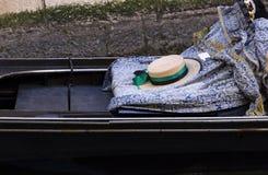 平底船的船夫帽子长平底船的 库存照片