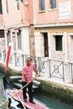 平底船的船夫 图库摄影