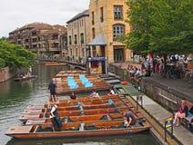 平底船,剑桥,英国 图库摄影