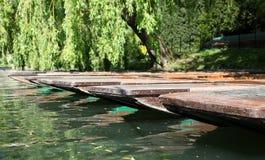 平底船-康河-剑桥 免版税库存图片