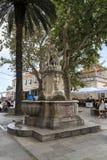 平底锅和若虫喷泉,杜布罗夫尼克,克罗地亚 免版税库存图片