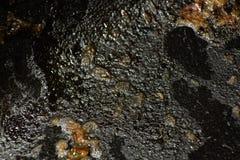 平底锅的被烧焦的表面 免版税库存图片