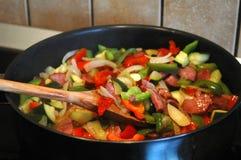 平底锅蔬菜 库存图片