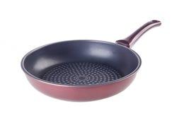 平底锅,金属煎锅,在背景 库存图片
