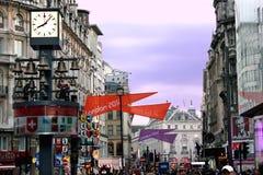 平方的莱斯特,中央伦敦,英国 免版税库存图片