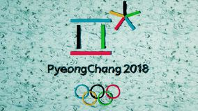 平昌郡2018个冬季奥运会电视斑点 广播质量 股票视频