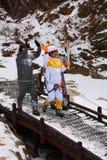 平昌郡2018奥林匹克火炬传递在雪岳山 免版税库存图片