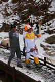 平昌郡2018奥林匹克火炬传递在雪岳山 免版税库存照片