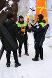 平昌郡2018奥林匹克火炬在雪岳山国立公园 库存照片