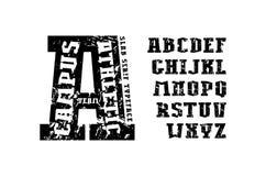平板在运动样式的细体字体 免版税库存照片