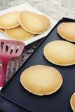 平板炉热薄煎饼 图库摄影