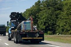 平板车卡车货物 库存图片
