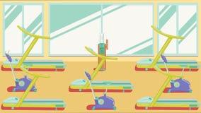 平的五颜六色的健身房09 库存图片