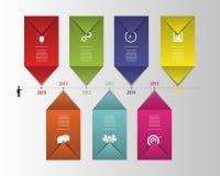 平的五颜六色的抽象时间安排infographics 向量 库存图片