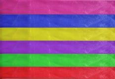 水平的五颜六色的条纹丝带背景 库存图片