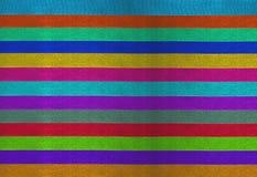 水平的五颜六色的条纹丝带背景 图库摄影