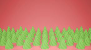 平的五颜六色的流行艺术构成用绿党杯形蛋糕,面包店好吃的东西,在桃红色背景,仿造纹理拷贝 免版税库存照片