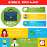 平的企业Infographic背景 库存图片