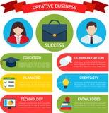 平的企业Infographic背景 图库摄影