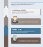 平的企业infographics例证 库存照片