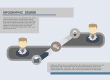 平的企业infographics例证 免版税库存照片