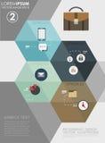 平的企业infographics例证 免版税库存图片
