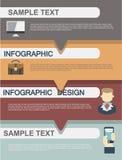 平的企业infographics例证 库存图片