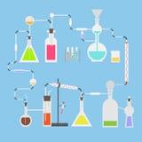 平的传染媒介科学实验室管 免版税库存照片