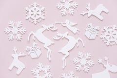 平的位置圣诞节构成 免版税库存图片