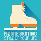 平的体育滑冰的背景概念 向量 免版税库存图片