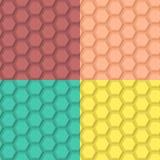 平的六角样式 库存例证
