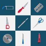 平的切割工具 免版税库存照片