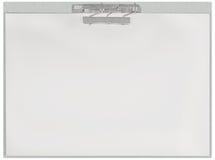 水平的剪贴板,空白倒空被隔绝的白皮书存档元件空间板料纹理背景,大详细的特写镜头 库存照片